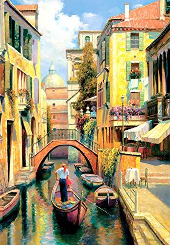 Weekend Venice-puzzel, 1000 puzzels voor volwassenen, familiepuzzels, houten puzzels, educatieve spellen, intellectuele uitdagingspuzzels, uitdagingsspellen
