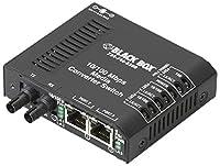 Black Box Corp Fast Ethernet Media Converter - 2 X Rj-45 1 X St Duplex - 10/100base-tx 100base-x - External Rack-mountable LBH100A-ST