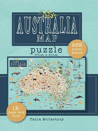 Australia Map Puzzle: Includes book & 250 piece puzzle