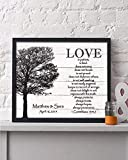 Corinthians Wedding Date Framed Print | Personalized Anniversary Gift | Christian Wedding Gift | Christian Engagement Gift