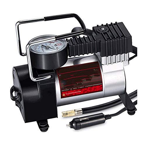 PULLEY-C inflador de neumáticos, bomba de compresor de aire, bomba de neumático auto portátil de 12 V DC con digital para coche, bicicleta y otros inflables C
