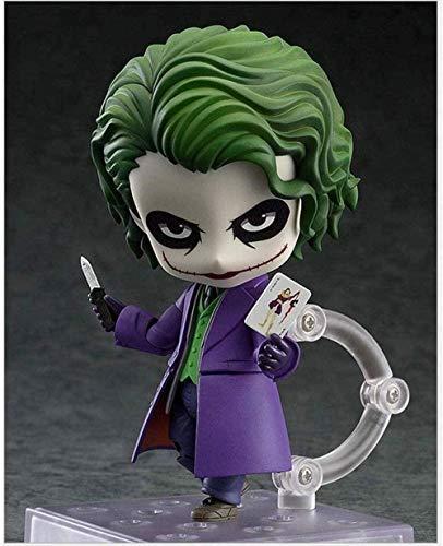 KIJIGHG Batman Dark Knight Joker Personaje de accin Nendoroid Joker Aproximadamente 10 cm Figura de Anime Figuras de accin Modelo de Personaje de Anime