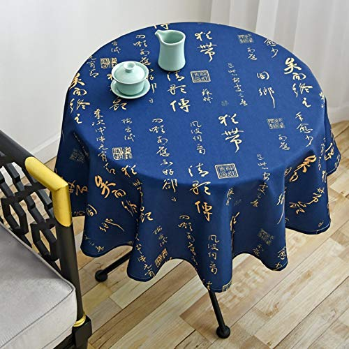 WSJIABIN Home Decoration Tablecloth Nordic Style Simple Waterproof and Oil-Proof Restaurant Hotel Household Round Table Tablecloth