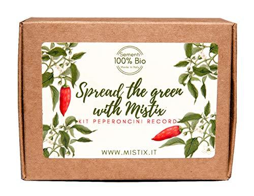 Il Kit Peperoncini Record di Mistix - 3 diversi peperoncini da coltivare – Regalo per gli amanti del giardinaggio e del piccante