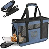 SINKIY Soft Pet Carriers - Small Portable Dog Carrier Travel Airline Approved Pet Carriers Bag Small Pet Rabbit Carrier Up to 11 Lbs