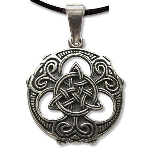 Anhänger Keltischer Knoten Triquetra Amulett aus 925 Sterling Silber