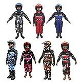 XTRM RACE JUNIOR KIDS KART SUIT New 2019 Motocross Quad MX Off Road Trials Go-Karting ATV MTB BMX Enduro Child Children Sports Racing Dirt Bike Overall Jump One Piece Suit (Red,X-LARGE - 8-9 YEARS)