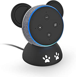 BonFook Echo Dot 3rd Stand Holder,Home Voice Assistant Pandas Table Stand Accessories for All-New Echo Dot (3rd Gen),Built-in Cable Management - Smart Speaker