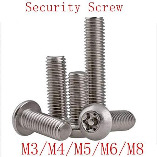 Sicherheitsschraube M3 M4 M5 M6 M8 A2 Torx-Knopfkopf aus rostfreiem Stahl Manipulationssichere Sicherheitsschrauben, 25 mm, M8 2 STÜCKE