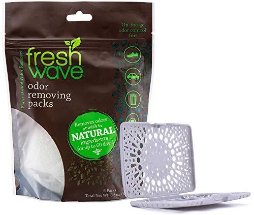Fresh Wave Odor Eliminating & Deodorizing Packs, Bag of 6 + Fresh Pod Case