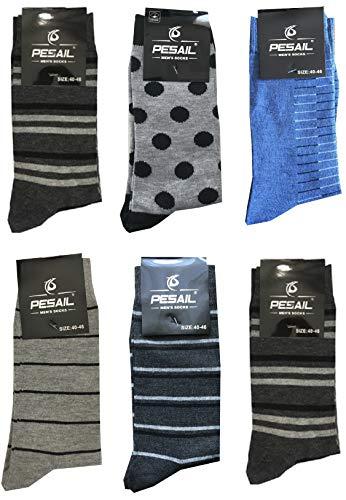 Pesail 6 Paar kurze Socken (halbe Wade) Herren Baumwolle Original Muster - Einheitsgröße 40-46 (Fantasia 5)