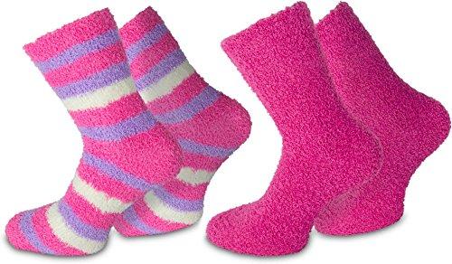 normani 2 Paar Weiche Damen Kuschelsocken Farbe Pink Größe 39/42