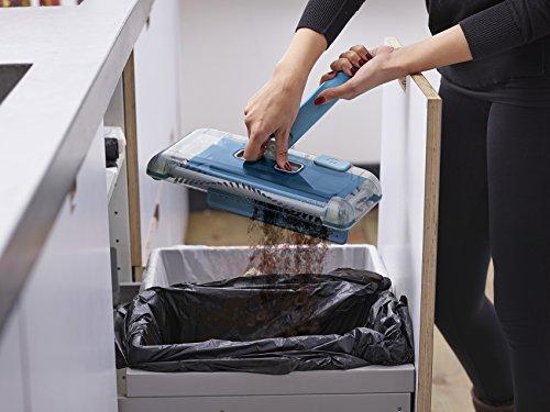 Black+Decker PSA115B-QW 3.6V, 1.5Ah Lithium Akku-Kehrbesen, Laufzeit 30 min, für kurzflorigen Teppiche und Hartböden, kabellos, beutelos, aufladbar, weiss, PSA115B, Acrylic, 300 milliliters, Blau - 8