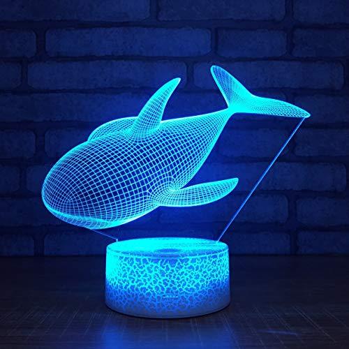 Fish USB Liveing Speaker e 3D LED Night Light USB Table Lamp Kids birthday Gift Bedside home decoration
