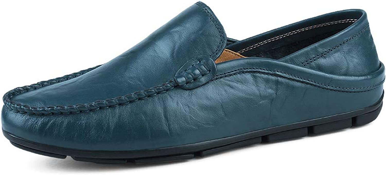 Easy Go Shopping Herrenmode Mokassins Wave Sohle Soft  Super Light Slip On Driving Loafer,Grille Schuhe (Farbe   Blau, Größe   43 EU)
