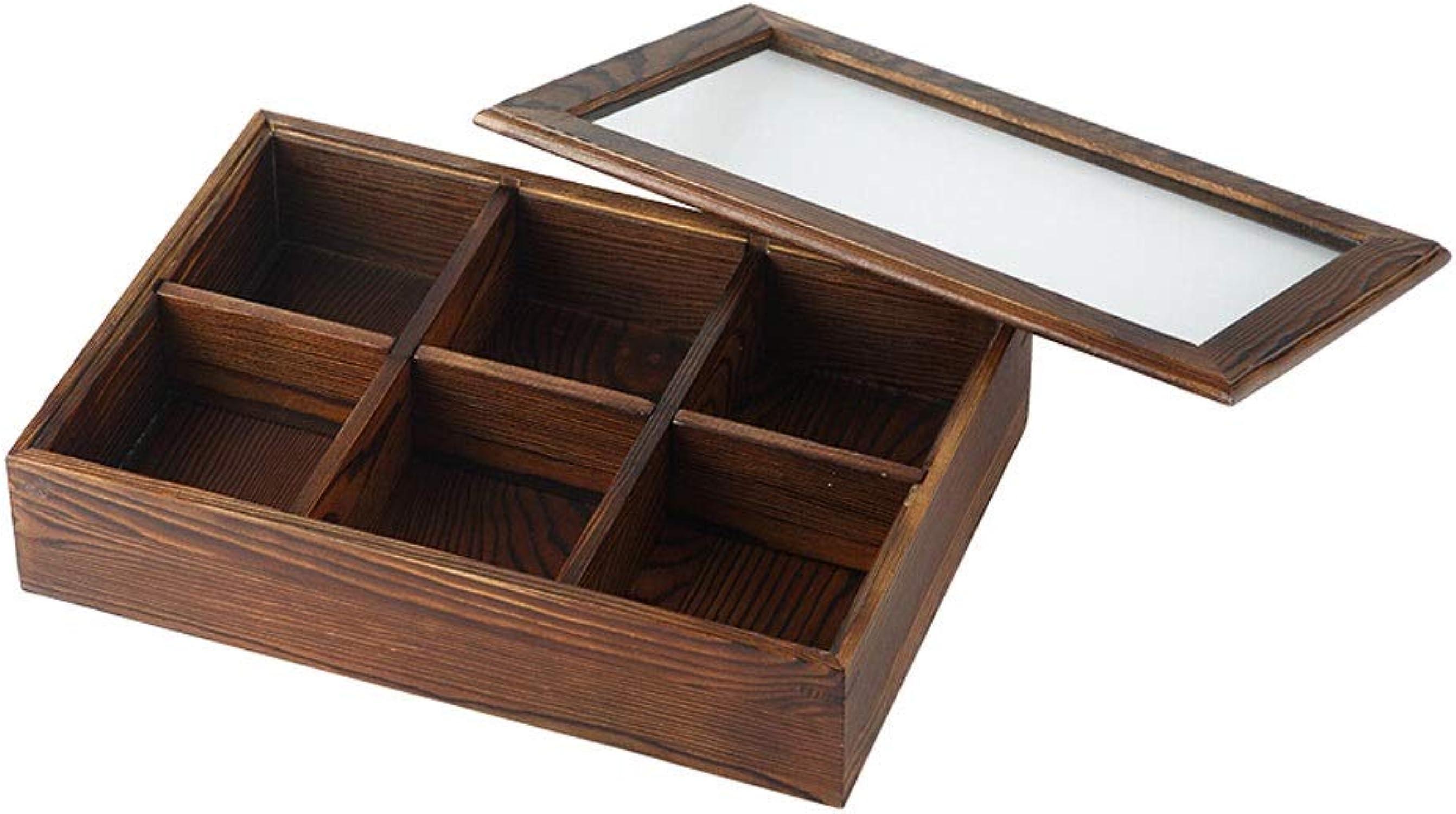 Boîte de bonbons en bois massif divisés, plateau en bois pour fruits secs créatif, plateau de salon avec table basse de style japonais (Couleur   A)