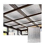 Sonnenschutzsegel, Isolierfolie Sun Room Glas Sonnenschutz verdicken Aluminiumfolie Schattierplatte für Balkonfenster Beschattung Pavillon, Anpassbar (Color : Silver, Size : 150x100cm)