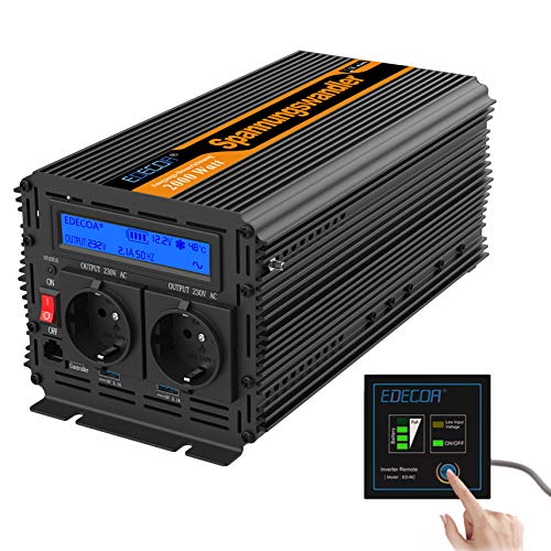 convertisseur onde sinus modifie 12v 220v onduleur 2000 4000w LCD transformateur de tension