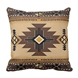 Emvency Throw Pillow Cover Browns Santa Fe Creams South Western Decorative Pillow Case Home Decor Square 20 x 20 Inch Pillowcase