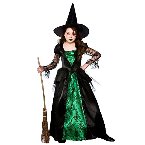 Emerald Witch (Deluxe) - Enfant Halloween / Carnaval Costume Fantaisie Costume 8 - 10 ans - 134-146cm