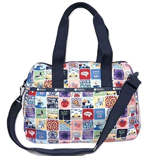 LeSportsac NY to LA Harper Convertible Crossbody & Top Handle Tote Handbag/Carry-on, Style 3356/Color K602 (New York to Los Angeles, Exclusive)