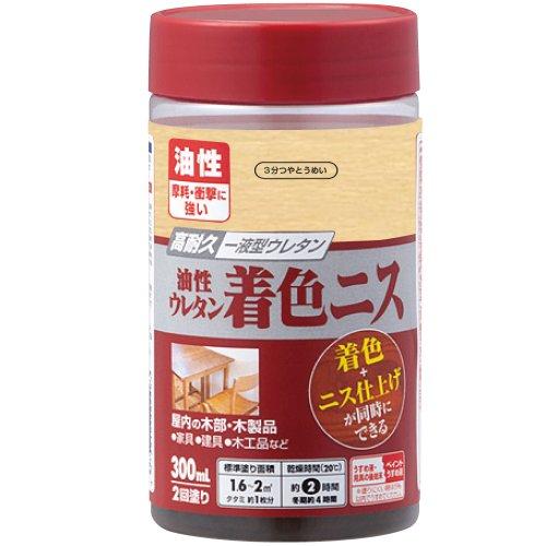カンペハピオ 油性ウレタン着色ニス 3分つやとうめい 300ML