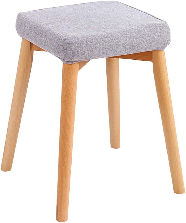 Stools Sleek Minimalist Sofa Bench Home Dressing Stool Multi-Function Footstool Knit Pouf WEIYV (color   Light-Grey, Size   37  46cm)
