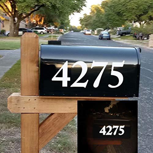 Diggoo Reflective Mailbox Numbers Sticker Decal Die Cut Elegant Style Vinyl Number 4