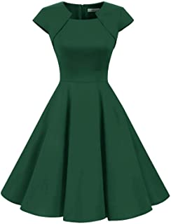1edd0ce20d1aac HomRain Damen 50er Vintage Retro Kleid Party Kurzarm Rockabilly Cocktail  Abendkleider
