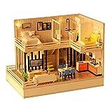 Alinory Casa de Campo Hecha a Mano, Modelo de casa Duradera, casa de Campo, Juguete de construcción de Casas Interesante F-001 (Without Dust Cover)