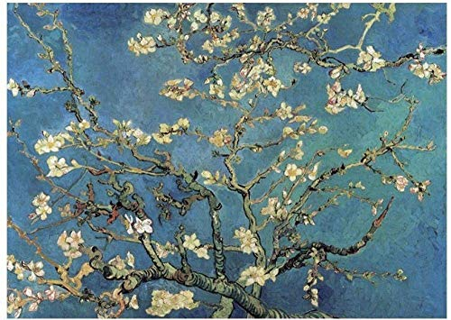 Rinalay Adultos Puzzle De 1000 Piezas De Vida de Moda Van Gogh Papel Paisaje Famoso Cuadro Estrellado Creativo De Descompresión Regalo Educativo del Juguete 1000 Albaricoque Rama De La Flor Completa