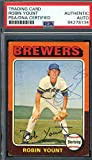 Robin Yount PSA DNA Coa Autograph 1975 Topps Rookie Hand Signed - Baseball Slabbed Autographed Cards. rookie card picture