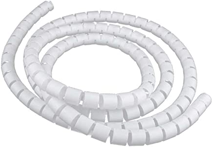 MagiDeal White 2meter 20mm PE Cable Tidy Wire Storage Cable Organizer Spiral Zip Wrap