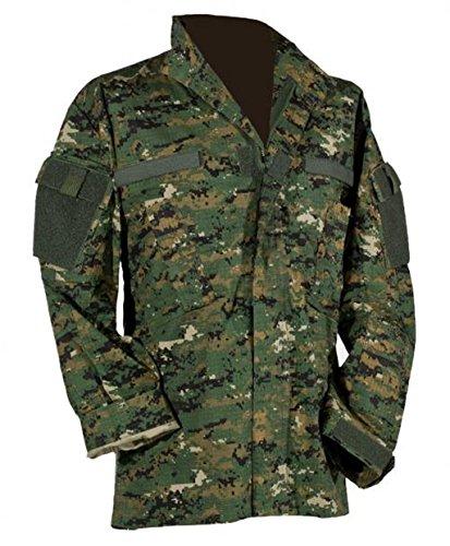 US Feldjacke M65 Feldparka ACU All Digital Combat Uniform Wind- und Nässeschutz Herbstjacke S-3XL (M, Digital Woodland Tarn)