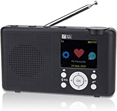 """Ocean Digital WR-23D Portable Internet Radio 2.4"""" Color LCD Rechargeable Battery Wi-Fi Bluetooth UPnP & DLNA Player Alarm ..."""