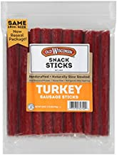 Old Wisconsin Turkey Sausage Snack Sticks, Naturally Smoked, Ready to Eat, High Protein, Low Carb, Keto, Gluten Free, 28 Ounce Resealable Package