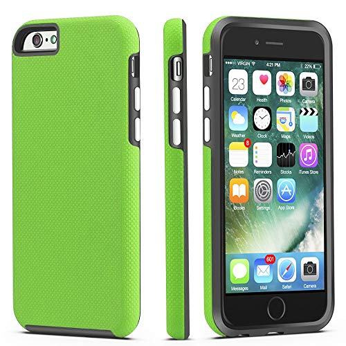 CellEver Compatible with iPhone 6 / 6s Case, Dual Guard Protective Shock-Absorbing Scratch-Resistant Rugged Drop Protection Cover Designed for iPhone 6 / 6S (Lime Green)