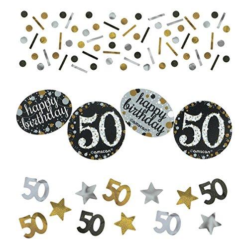 Pfeif auf's Alter 50 im Geschenke Set für Frauen und Männer zum Geburtstag Geldgeschenk Umschlag mit Kräuterlikör oder Piccolo 22 Karat Blattgold Gold pink rosa schwarz (Party Set 50 Gold 1004) - 2