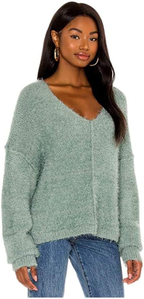 Free People Icing V Neck Pullover in Spring Dust