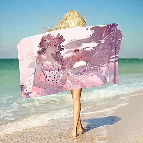 QWAS ELSA - Toalla de playa congelada, para yoga, playa, camping, piscina (8,70 x 140 cm)