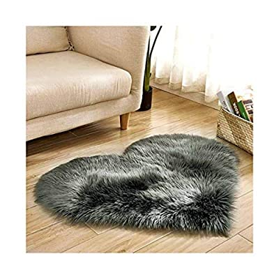 YOKOKO Faux Fur Area Rug Ultra Soft Fluffy Rugs Non Slip Rugs Luxurious Carpet Rugs Modern Home Decor for Bedroom, Living Room, Luxury Bed Side Plush Carpets (Black)