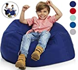 Delmach Bean Bag Chair Cover   Stuffed Animal Storage   38' Width Extra Large   100% Cotton Canvas   Double Stitched   Durable Zipper   Fill with Anything Soft   Beans not Included