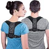 Corrector de postura para hombres y mujeres de forma eficaz y cómoda y ajustable, cuerpo correcto para apoyar la postura, pinza cifosis, espalda y hombros BY002