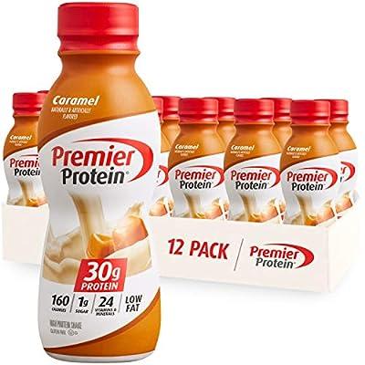 Premier Protein Shake, Caramel, 11.5 Fl. Oz (Pack of 12)