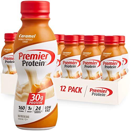 Premier Protein Shake Caramel 30g Protein 1g Sugar 24 Vitamins amp Minerals Nutrients to Support Immune Health 115 fl oz 12 Pack