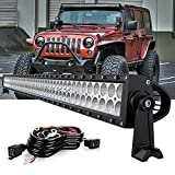 Led light bar DOT Approved Spead-Vmall 50' Inch 288W Dual Row Spot Flood Combo LED Work lights With Rocker Switch Wiring Harness Kit For Jeep Truck SUV ATV Polaris Ranger Rzr Golf Cart 4x4 Boat