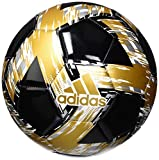 adidas mens Capitano Club Ball Black/White/Gold Metallic/Silver Metallic 5