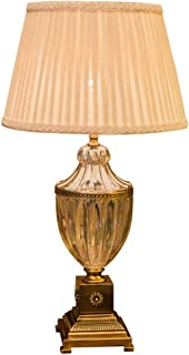 Lámpara de Mesa Yaoma Lámpara de Mesa Europea Sala de Estar Sofá Mesa de Centro Lámpara de Cristal Gran Ambiente Retro Dormitorio Americano Lámpara de Noche LCSHAN