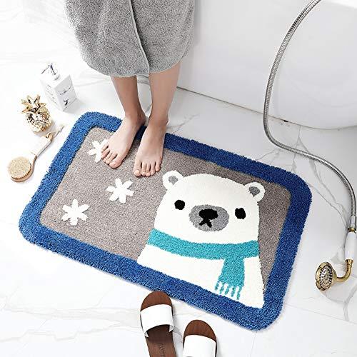 Yehapp Felpudo Felpudo Gato/Oso - alfombras de baño Alfombrillas de baño Exterior Interior Alfombrilla de Trampa de Suciedad-Alfombrilla de pie Alfombra de baño Imagen de Animal 45x65cm/50x80cm