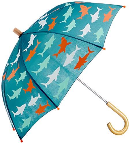 Hatley Jungen Printed Umbrellas Regenschirm, Blau (Bluegreat White Shark 400), One size